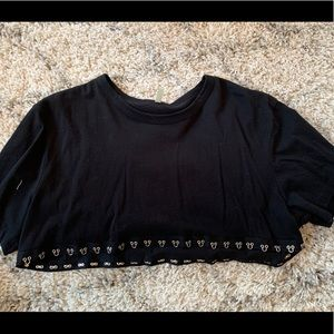 Emma and Sam cropped Tee